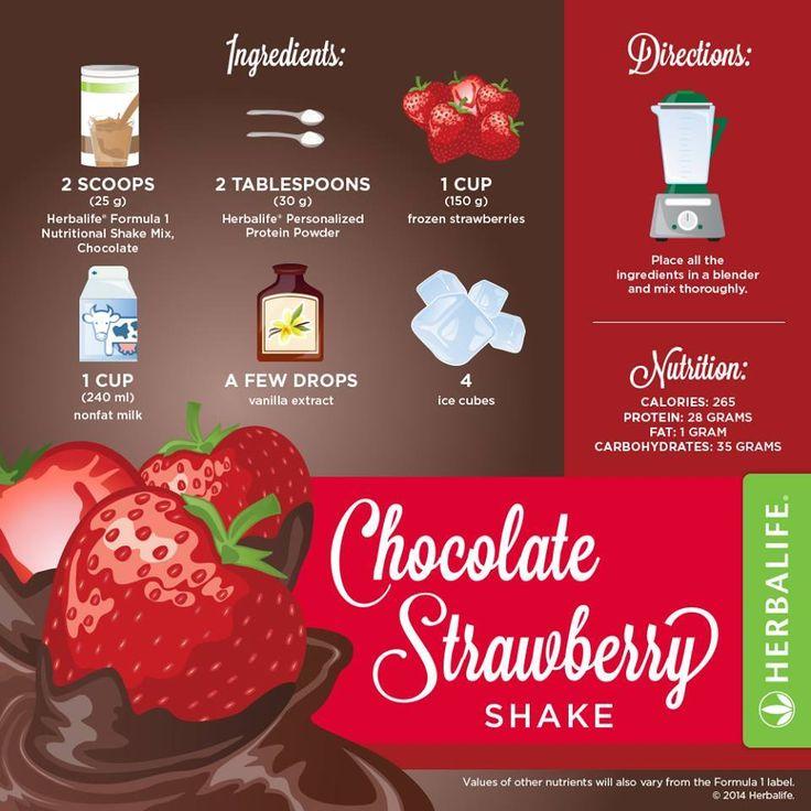 Chocolate Strawberry Herbalife shake recipe - resep shake Herbalife. Klik disini untuk memulai program anda