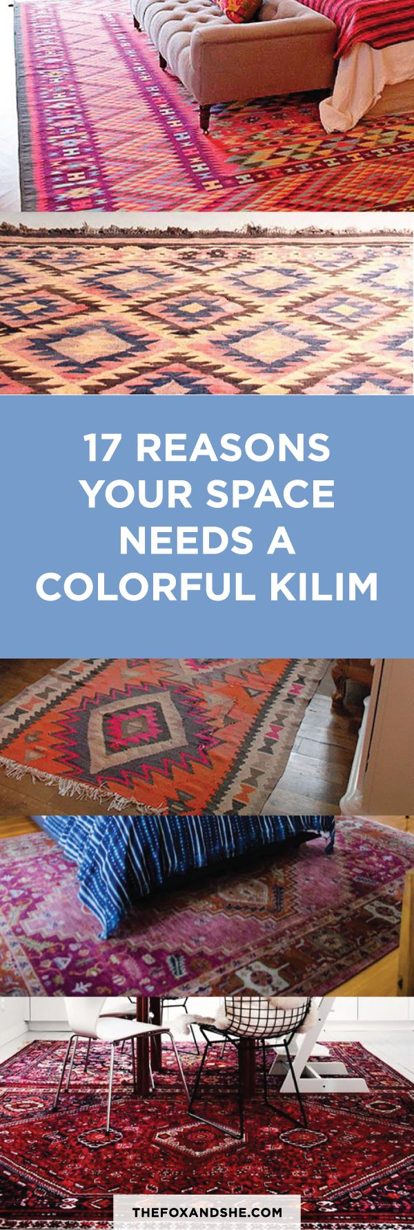 Kilim Rugs for Your Living Room! thefoxandshe.com