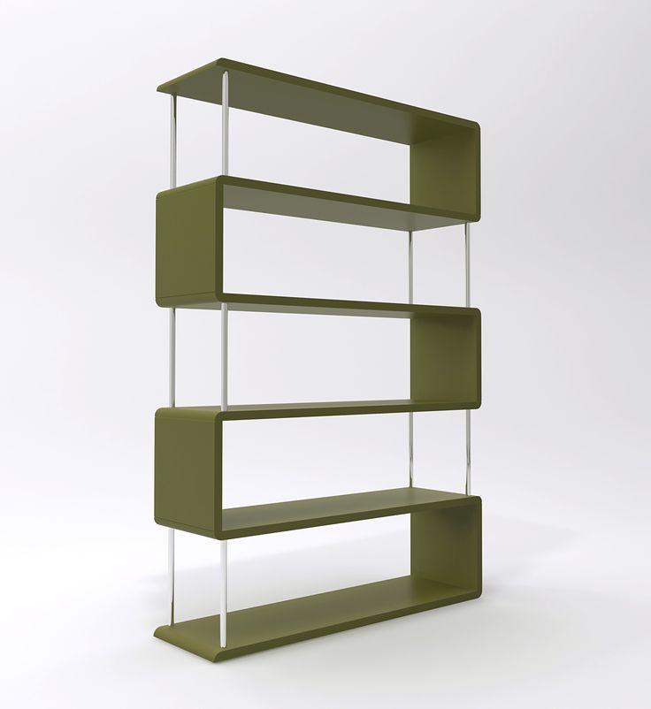Regał wijący się jak wstążka wykonywany jest w dowolnej kolorystyce. Znakomity do minimalistycznych wnętrz.