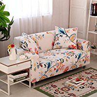 FORCHEER Funda de sofá elástica Protector para sofás Cubre sofá universal - 3 Plazas (190-230cm) - Patrón #8: Amazon.es: Hogar