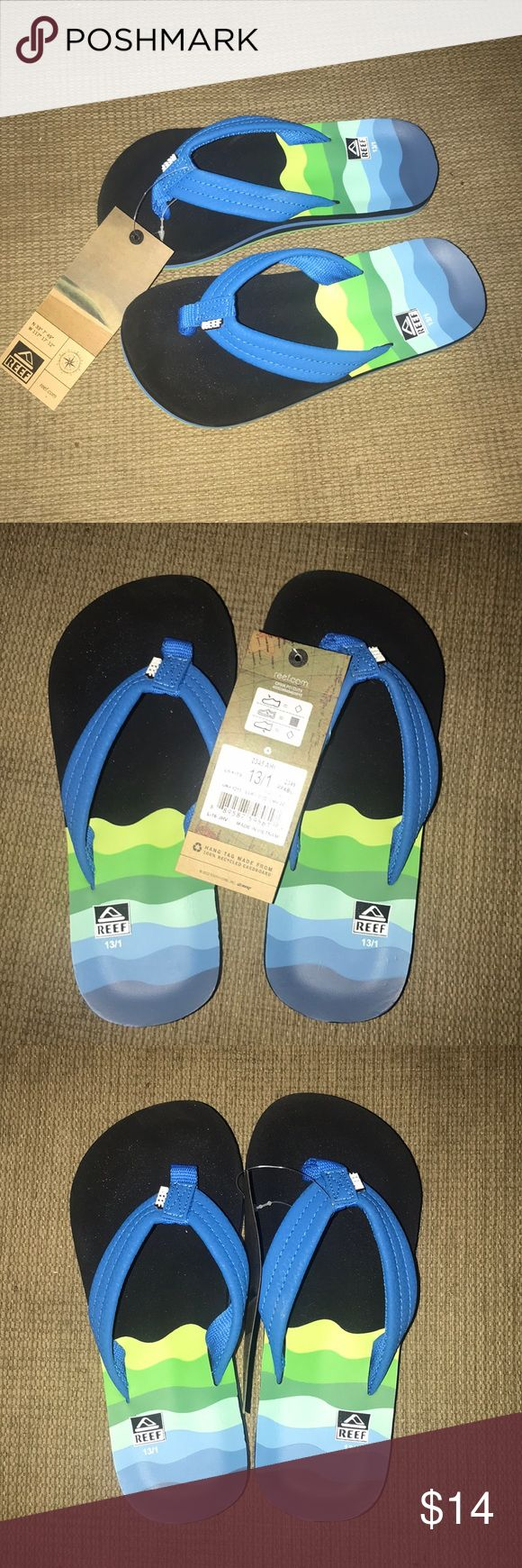 REEF Flip Flops NWT Size 13/1 Boys Sandals Brand New Super cute pair of Boys Reef flip flops in size 13/1. Never worn! Reef Shoes Sandals & Flip Flops