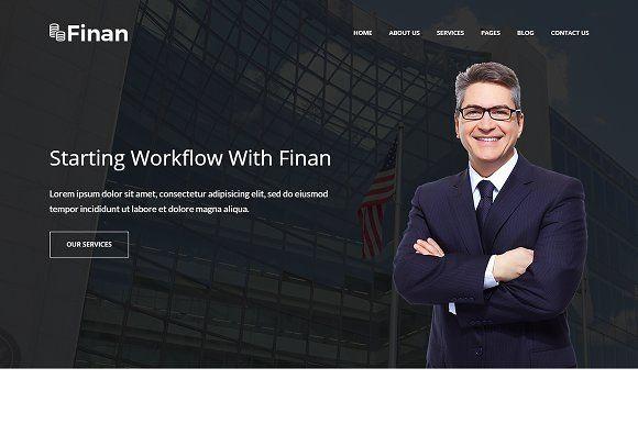 Finan – Finance & Business WP Theme by DevItems on @creativemarket