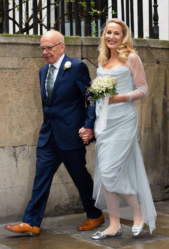Jerry Hall's Wedding Dress at Rupert Murdoch Wedding | POPSUGAR Fashion