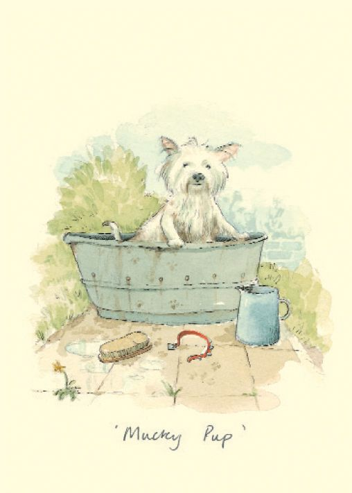 MUCKY PUP by Alison Friend - A Two Bad Mice Greeting Card