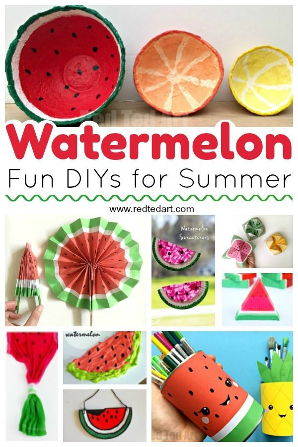 Diy Watermelon Craft Ideas Crafts For Kids Watermelon Crafts