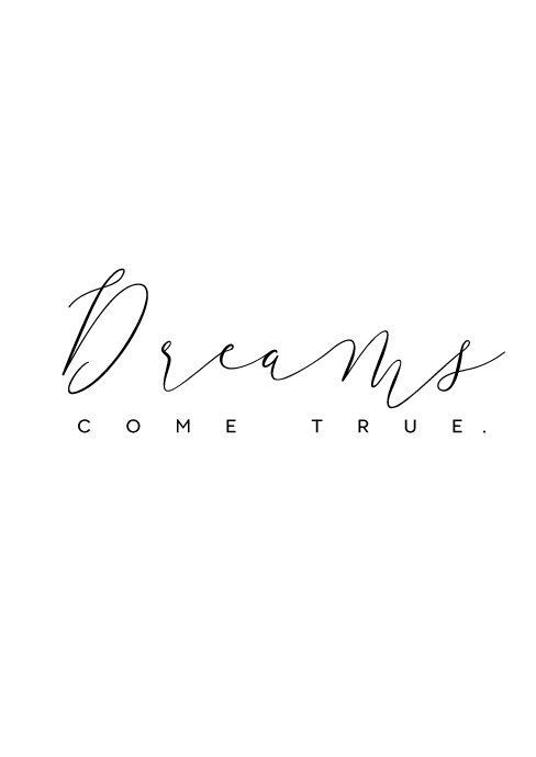 Motivational wall art, Dreams Come True, Dream print, Dream poster, Dream printable, Dreams print, Quote print, Inspirational Print