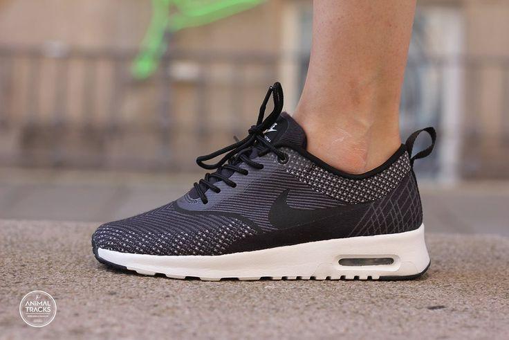 nike air max thea print womens shoes silver gray black