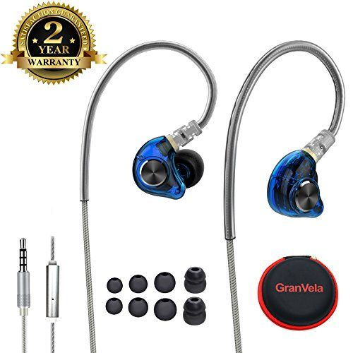 Fitness Earbuds Sport Ear Buds Wired Exercise Ear Pods HIFI Workout Headphones with Microphone Running Earphones for Jogging Gym Working out Phones.