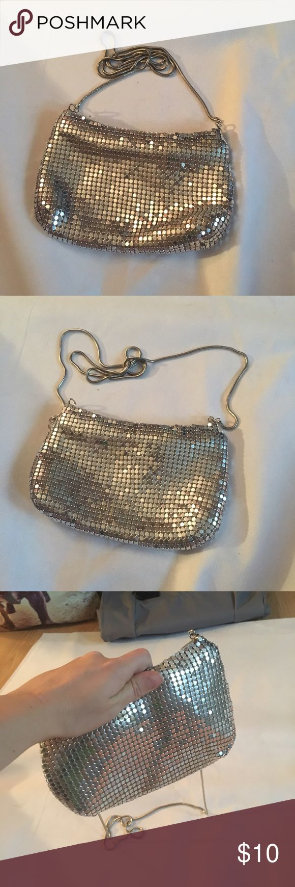 Adorable clutch size silver sequins/ metal purse Adorable clutch size silver sequins/ metal purse. Great for prom/ dance/ formal occasion Bags Clutches & Wristlets