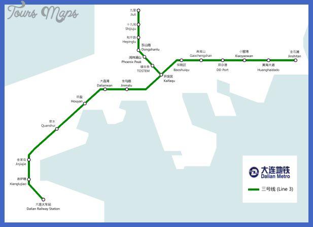 cool Dalian Metro Map