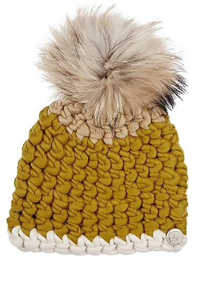 We Adore: The Fur Pom-Pom Wool Hat from Mischa Lampert at Barneys New York