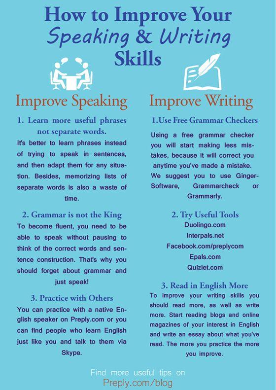 Как усовершенствовать навыки разговорной и письменной речи на английском языке