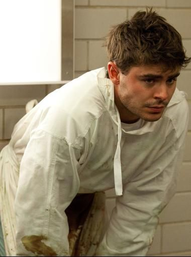 """The hospital scenes for Parkland were shot in an Austin hospital that was a """"dead ringer"""" for Parkland Memorial Hospital, says Landesman. Here, Efron's doctor deals with watching two critically wounded patients die in the span of two days -- President John F. Kennedy and his assassin Lee Harvey Oswald. """"At this point he cannot believe he has lost them both,"""" says Landesman."""