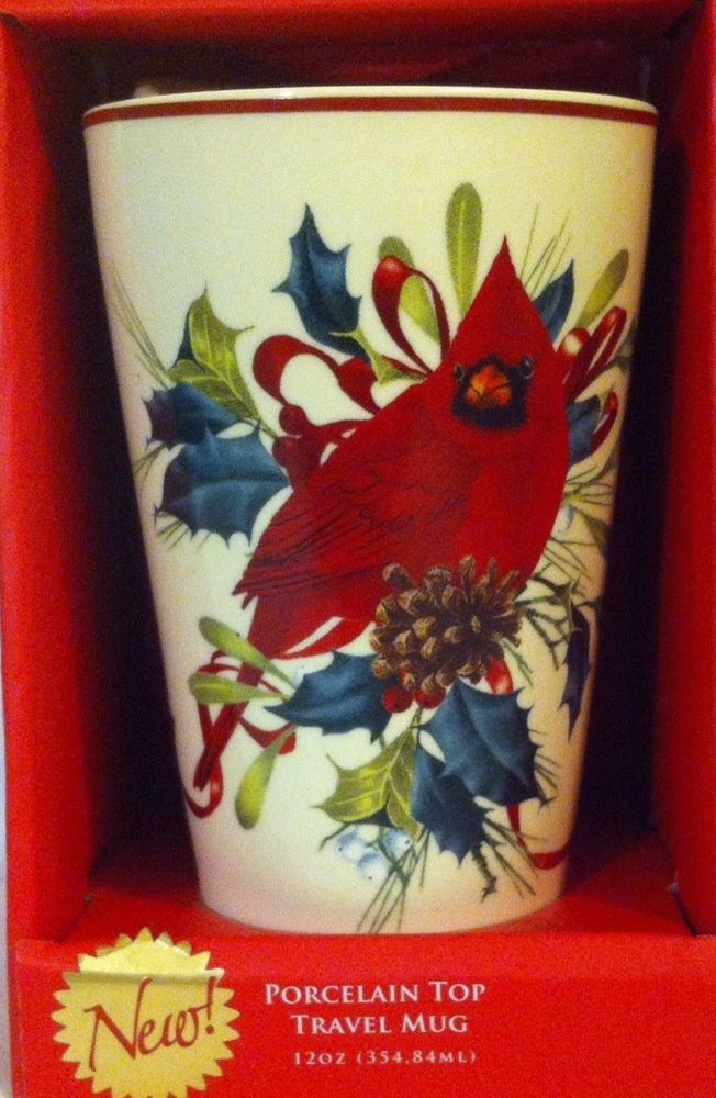12 oz lenox winter greetings porcelain top thermal cardinal ceramic 12 oz lenox winter greetings porcelain top thermal cardinal ceramic travel mug lenox lu lus mug and cup pinterest m4hsunfo