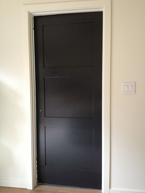 Black door love the painted door use a satin finish adam 39 s house pinterest shaker style - Sophisticated black interior doors ...