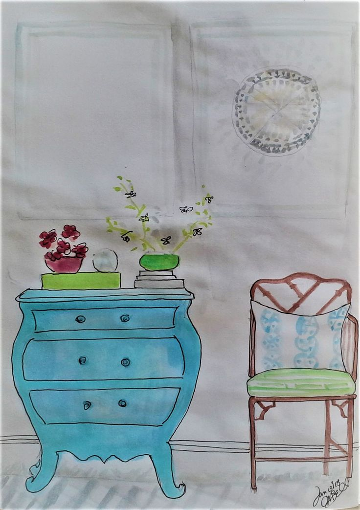 Blue dresser daily page Cindy M. Bell
