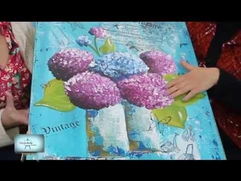 Dactilopintura : Hermosas hortencias con esta divertida tecnica!!! - YouTube