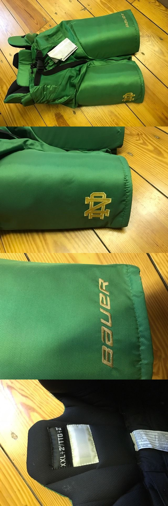 Leg Pads 79764: Bauer Notre Dame Ice Hockey Pants 2Xl BUY IT NOW ONLY: $80.0