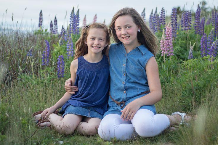 Sisters/Siblings Lupins St John's Family Photographer Karla Sabrina Photography