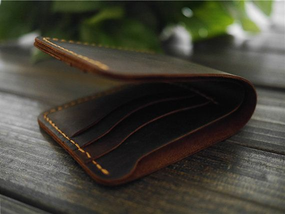 Minimalist Leather Wallet  Leather Bifold Wallet  by CityOfGod