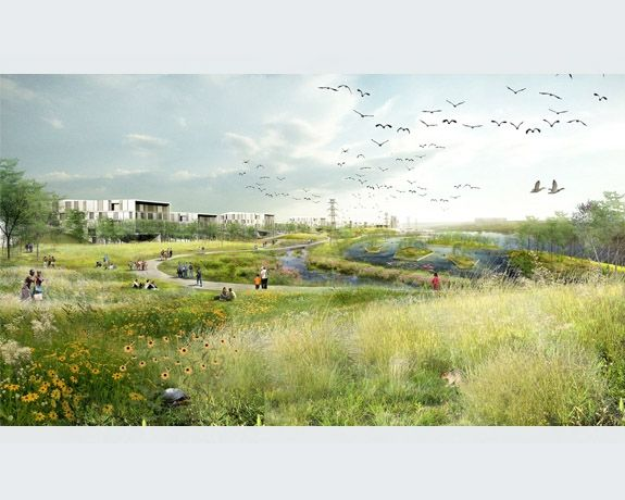 Tls minneapolis riverfront visualisering inspirr pinterest for Greeninc landscape architecture