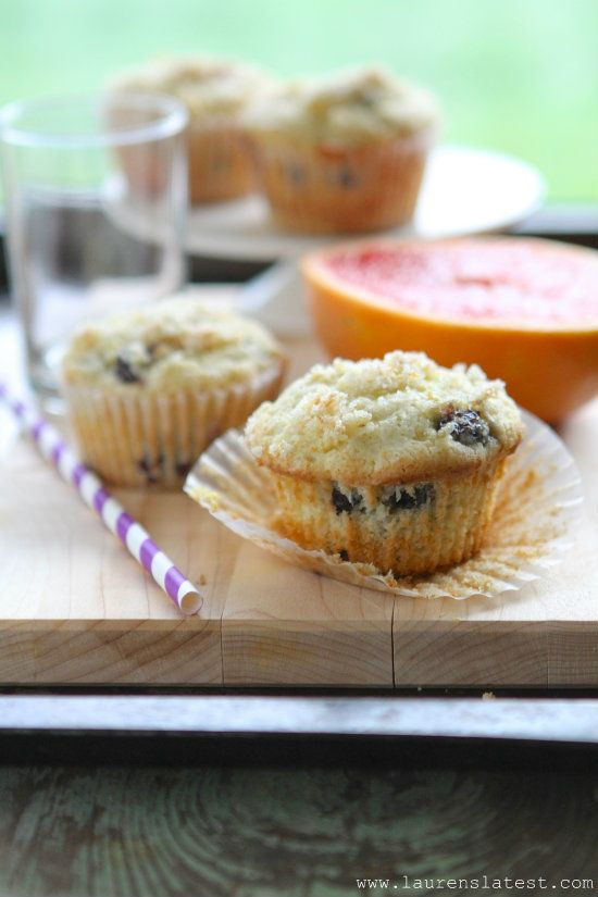 Gluten Free Blueberry Lemon Muffins -- A friend just made these, and I swear I couldn't tell they were GF at all!  As far as the gluten-free flour mixture, she used Bob's Red Mill all-purpose gluten free flour then added 3/4 tsp. of xanthum gum