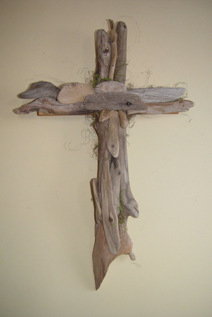 Medium driftwood wall cross by eaglecountrycreation on for Driftwood wall