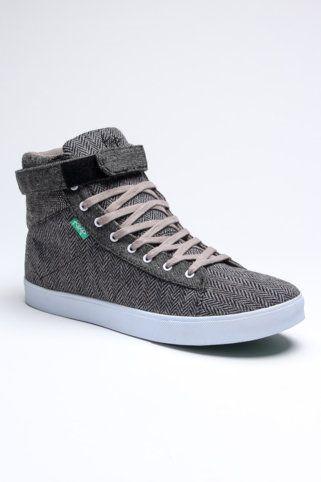 Herringbone Hi-Top Sneakers / KEEP