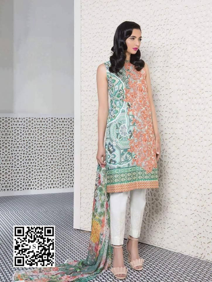Sapphire Lawn Suit, Ladies Designer Replica, Online Clothes Shopping ...