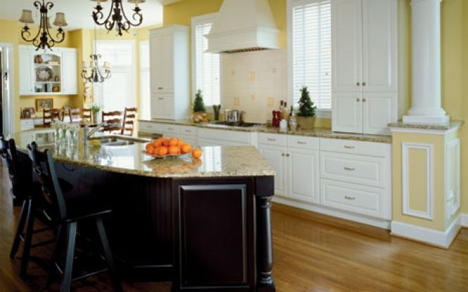 Traditional feel to this modern kitchen design
