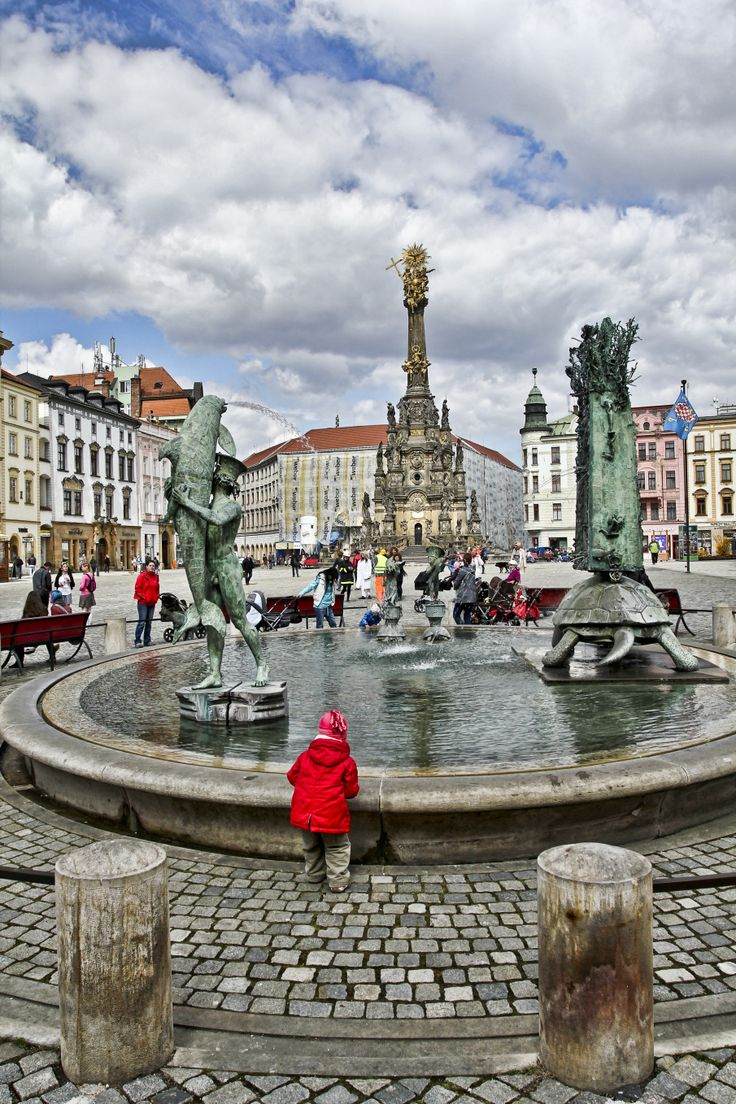Arionova kašna/Arion Fountain - Established in 2002, within the reconstruction of the Upper Square, it completes the set of Olomouc Baroque fountains inspired by ancient mythology. Ivan Theimer, its creator, is a famous native of Olomouc who lives in France.