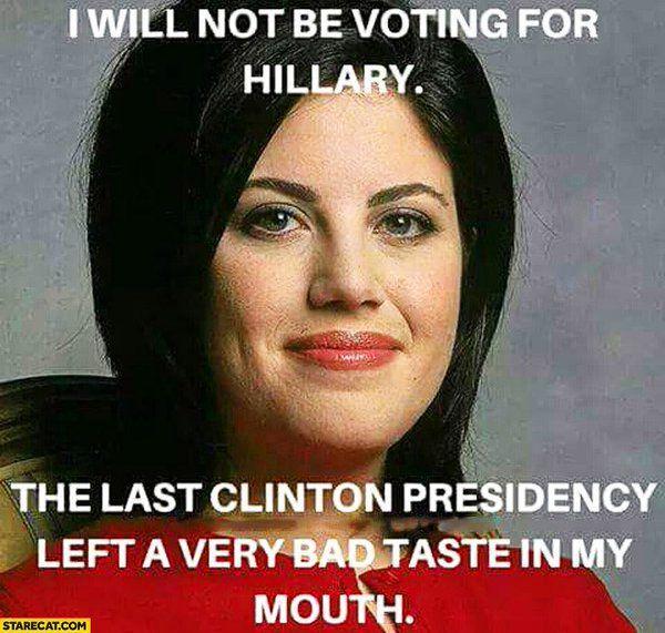 Monica Lewinsky Hillary Clinton Vote