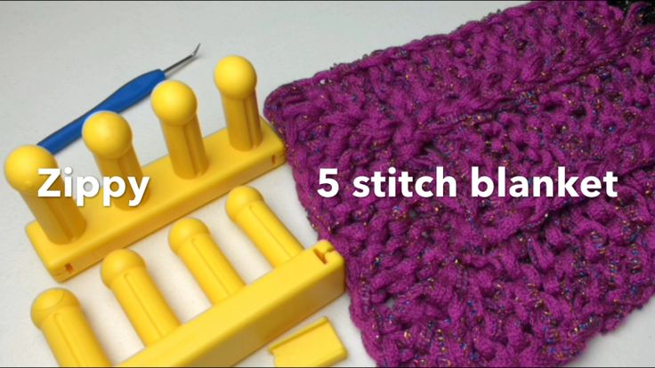 5 stitch blanket All I Need to Loom Knit and More Pinterest Stitches, K...