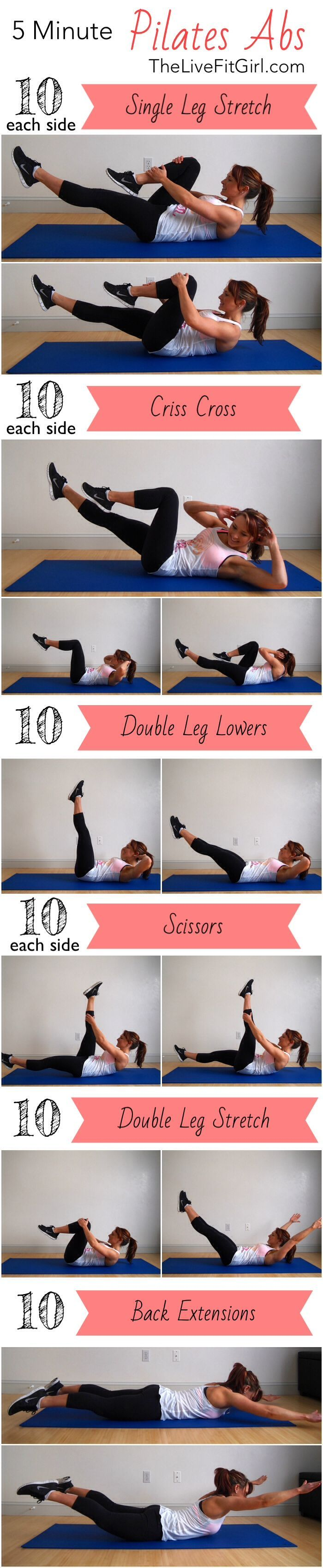 5 Minute Pilates Abs Routine frugal fitness tips, thrifty fitness tips