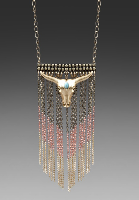 WILDFOX COUTURE  Bull Head Necklace, So cute.