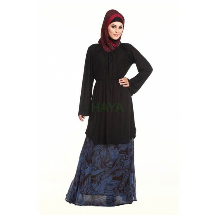 Crafted from baby soft knit fabric this beautiful tunic features elasticated gathered waist and neckline. Buy for $24.99 @ http://www.hayaislamicclothing.com/Women/Tunic-Kurties-Tops/tunics-241-tm.html