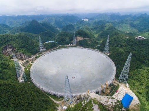 "China is ready to put on the ""ear phones"" and flip the ""ON"" switch for the world's largest, most powerful radio telescope, that is nearing completion in a vast, bowl-shaped valley in the mountainous southwestern province of Guizhou by the end of September, accompanied by regulations to protect the facility. Its unrivaled precision will allow astronomers to survey the Milky Way and other galaxies and detect faint pulsars, and work as a powerful ground station for future space missions…"