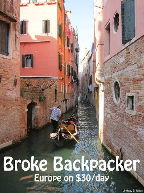 Backpack through Europe for a month on $1000- seems like a good book to read before planning a trip abroad!