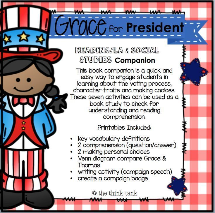 grace for president writing activities