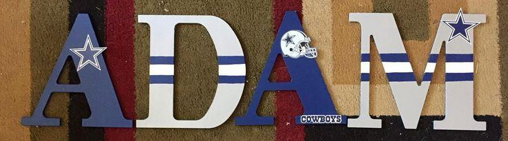 Dallas Cowboys wood letters