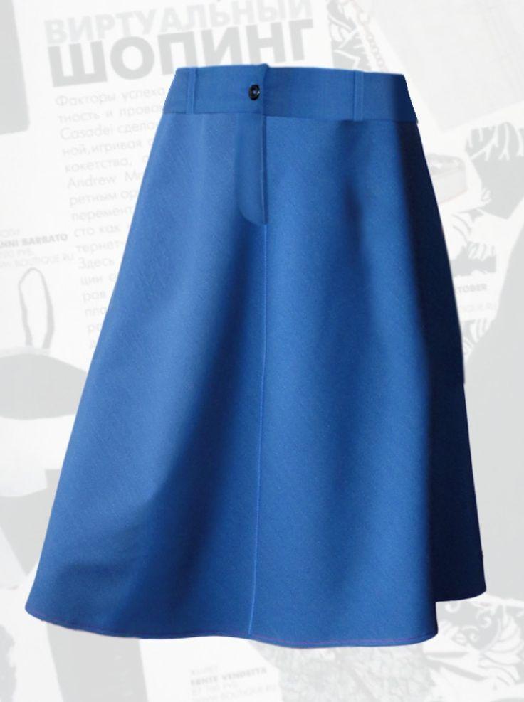 Как переделать клёш юбку