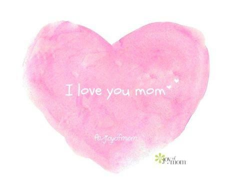 I love you, mom. <3 Join us for more family love on Joy of Mom. <3 https://www.facebook.com/joyofmom  #family #mom #love #quote