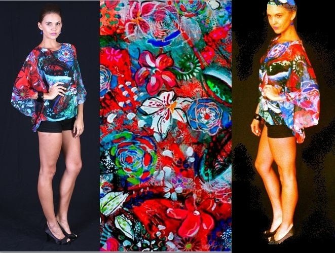 'Floral Spring' kaftan top $89 perfect for summer x