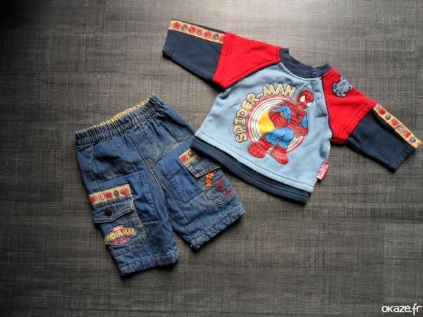 Ensemble Spiderman - Ensemble Spiderman Pull + Jeans