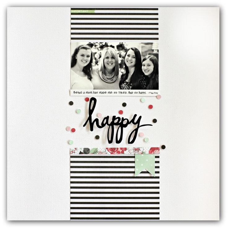 #papercrafting #scrapbook #layout - Happy by jodywenke at @studio_calico