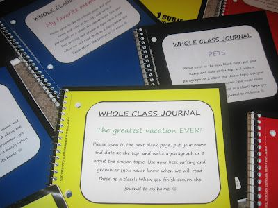 Life... as I know it: Whole-Class Journaling...FREE journal covers