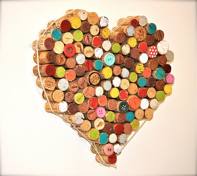 Hearts made of Cork! Lovely... Need to drink more wine.