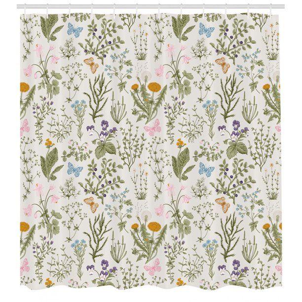 Wildflower Pastel Floral Daisy Pink Lavender Purple Cream Quilting Cotton Fabric