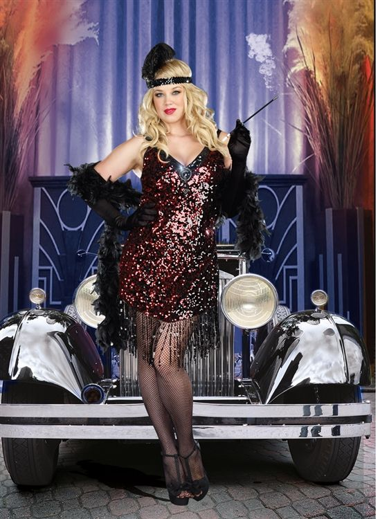 plus size flapper dress   Plus Size Dames Like Us Flapper Costume