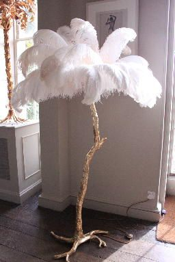 THE OSTRICH FEATHER PALM TREE LAMP | A Modern Grand Tour at Aynhoe Park, Aynhoe Park